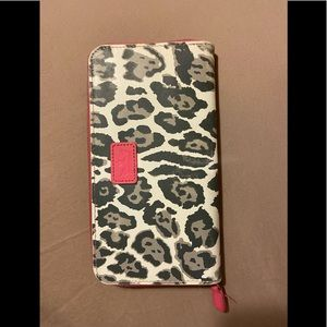 Pink leopard/cheetah large wallet
